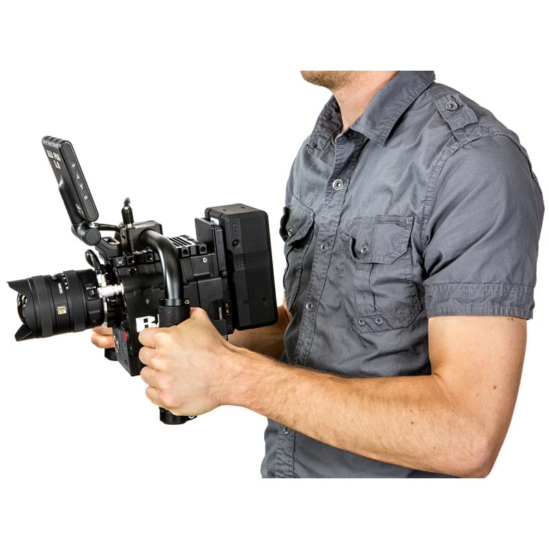 Wooden Camera Handlebar (Black Leather)